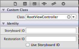 Choose View Controller Class