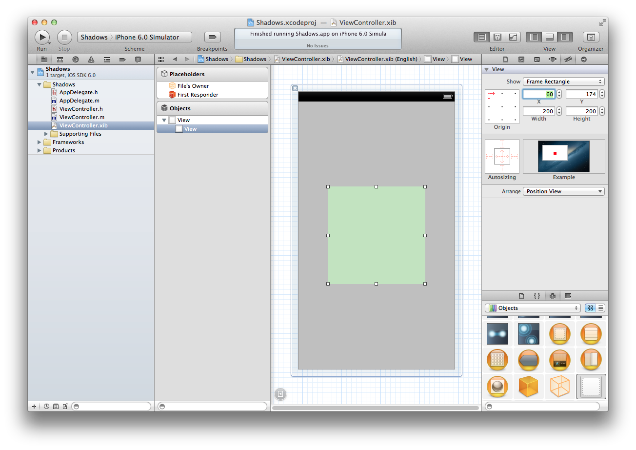 iOS Programming Recipe 10: Adding A Shadow To UIView
